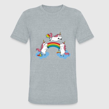 Farting Pooping Pooping Farting Peeing Unicorn - Unisex Tri-Blend T-Shirt