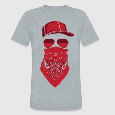 red blood gang member  - Unisex Tri-Blend T-Shirt