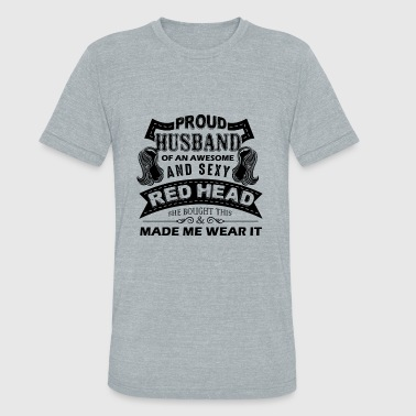 Awesome Redheads Proud Husband Of An Awesome RedHead Shirt - Unisex Tri-Blend T-Shirt