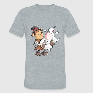 Woolly bride and groom - Unisex Tri-Blend T-Shirt
