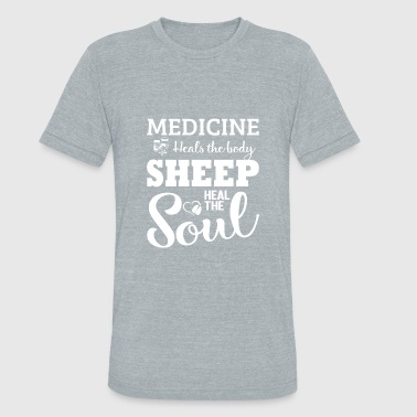 Awesome Heal Medicine heals the body sheep heal the soul shirt - Unisex Tri-Blend T-Shirt