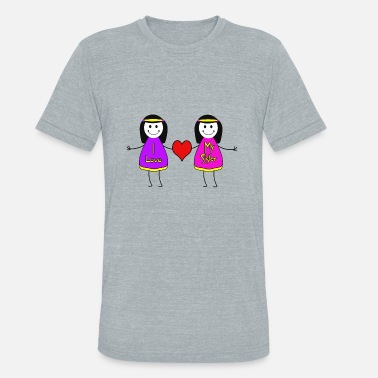Love My Sister I Love My Sister - Unisex Tri-Blend T-Shirt