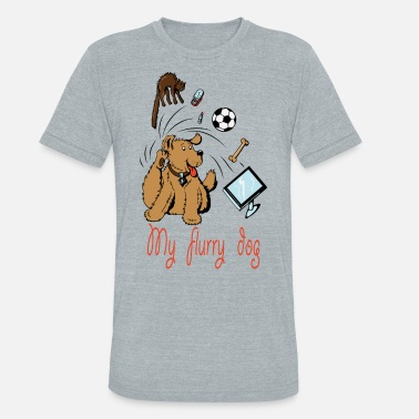 Furry Dogs MY CUTE FURRY DOG PERFECT GIFT - Unisex Tri-Blend T-Shirt