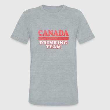 Canada Drinking Canadian Independence Day Canada Drinking Team - Unisex Tri-Blend T-Shirt