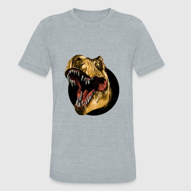 Dinosaur Drawing Funny dinosaur head sketch vector color drawing - Unisex Tri-Blend T-Shirt
