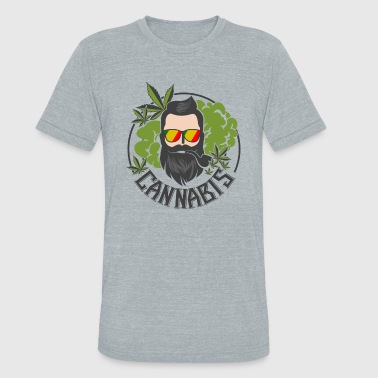 Herb Cannabis Cannabis Medical Herb with Human - Unisex Tri-Blend T-Shirt