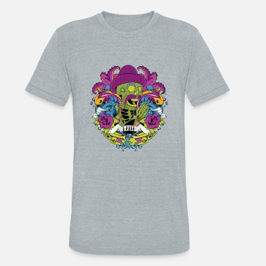 Mexican Green mexican green skull day of the dead faith - Unisex Tri-Blend T-Shirt