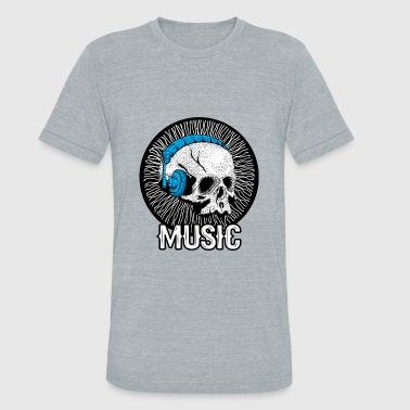 Death Headphones Music Skull Forever Until Death Song Headphone - Unisex Tri-Blend T-Shirt