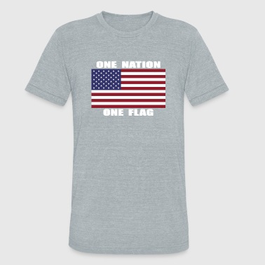 ONE NATION ONE FLAG - Unisex Tri-Blend T-Shirt