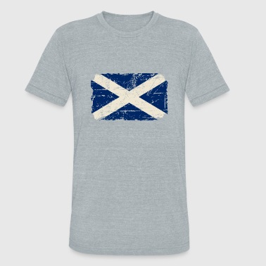 Scotland Flag - Vintage Look  - Unisex Tri-Blend T-Shirt