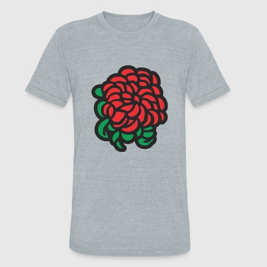 flower red rose - Unisex Tri-Blend T-Shirt