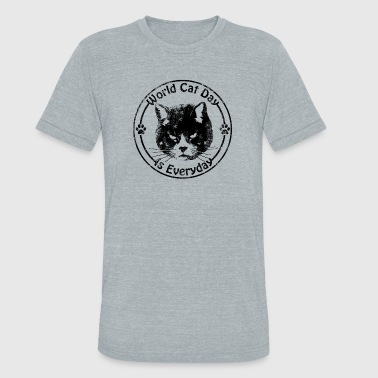 Cat Day Vintage World Cat Day - Unisex Tri-Blend T-Shirt