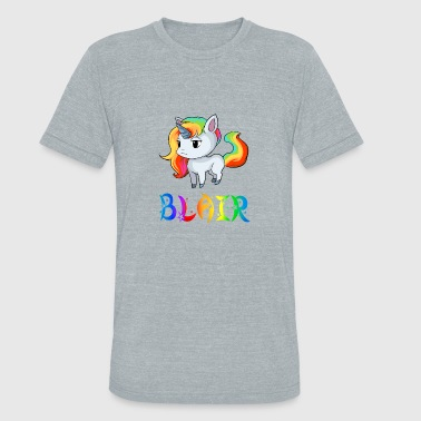 Blair Blair Unicorn - Unisex Tri-Blend T-Shirt