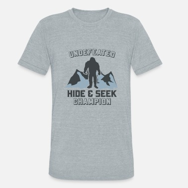 Fishing Champion Mountain Wildlife Camping Nature Champion Hide - Unisex Tri-Blend T-Shirt