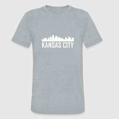 Kansas City Kansas City Skyline - Unisex Tri-Blend T-Shirt