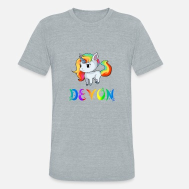 Devon Devon Unicorn - Unisex Tri-Blend T-Shirt