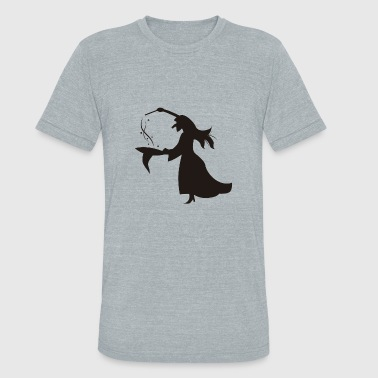 Witch Magic witch performing magic - Unisex Tri-Blend T-Shirt