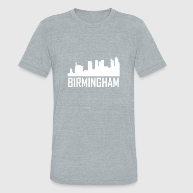 Birmingham Alabama City Skyline - Unisex Tri-Blend T-Shirt