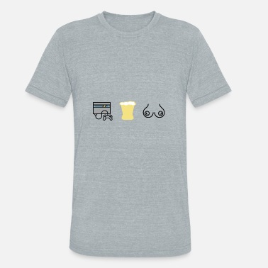 Boobs Game Gaming beer and boobs - Unisex Tri-Blend T-Shirt