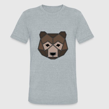 Geometric Animal: Grizzly Bear - Unisex Tri-Blend T-Shirt