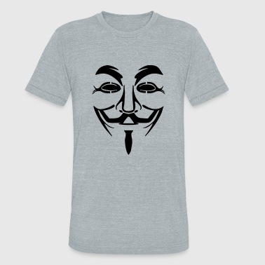 Guy Fawkes Mask - Unisex Tri-Blend T-Shirt