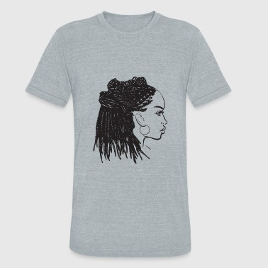 Black Hairstyle Black Woman Dreads Hairstyle Natural Pretty Lady - Unisex Tri-Blend T-Shirt
