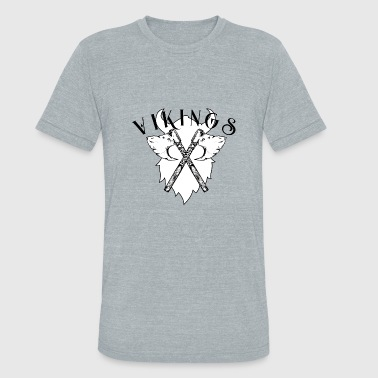 new Vikings Viking Axe, Greeting from Valhall 1 - Unisex Tri-Blend T-Shirt