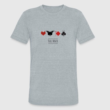 Full House Cards full house cards poker casino las vegas angel devi - Unisex Tri-Blend T-Shirt