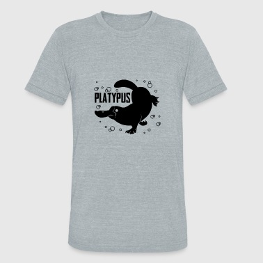 Love Platypus Clothing Happy Platypus T Shirt - Unisex Tri-Blend T-Shirt