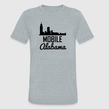 Mobile Alabama Skyline - Unisex Tri-Blend T-Shirt