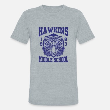 Stranger Things Hawkins Middle School 1983 Tiger - Unisex Tri-Blend T-Shirt
