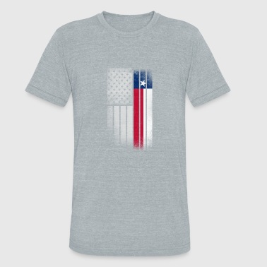USA Vintage Texas State Flag - Unisex Tri-Blend T-Shirt
