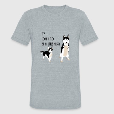 Its Okay Its okay to be a little husky - Unisex Tri-Blend T-Shirt