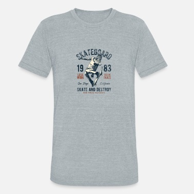 California Design Vintage California Skate Design - Unisex Tri-Blend T-Shirt