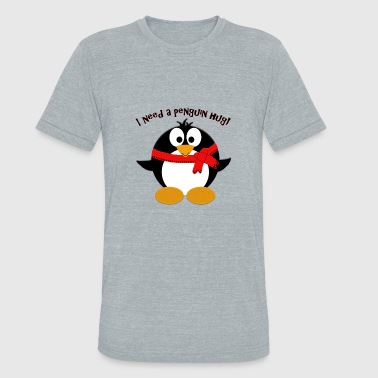 Northpole Penguin Hug - Unisex Tri-Blend T-Shirt