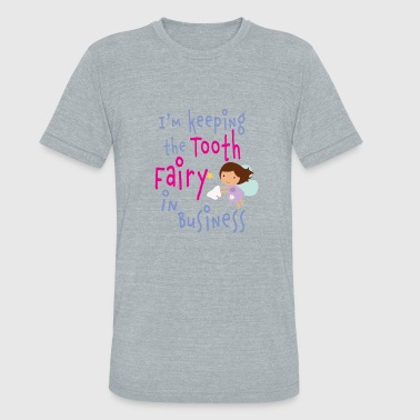 Cute Tooth fairy girls in business - Unisex Tri-Blend T-Shirt