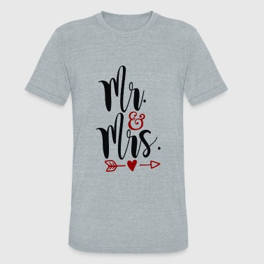 Mr Mrs - Unisex Tri-Blend T-Shirt