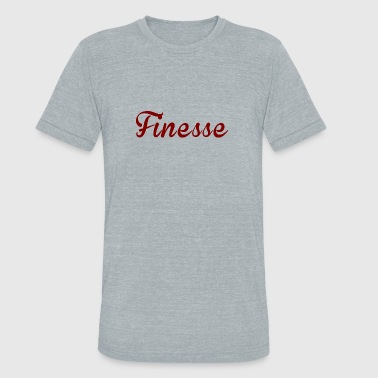 Finesse Clothes Finess Red written logo supreme design - Unisex Tri-Blend T-Shirt
