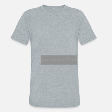 Emoto Hidden Messages Powerful (Grey) - Unisex Tri-Blend T-Shirt