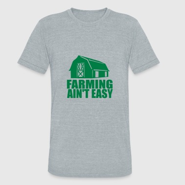 Gh FARMING AINT EASY gh - Unisex Tri-Blend T-Shirt