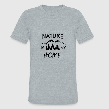 The Mountains Are My Home MY HOME IS - Unisex Tri-Blend T-Shirt