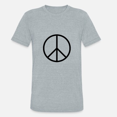 Black Peace Sign Peace sign - Unisex Tri-Blend T-Shirt