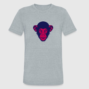 monkey chimpanzee 1107 - Unisex Tri-Blend T-Shirt