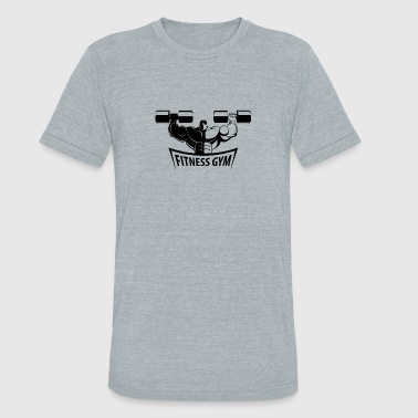 Cool Gym Muscle Fitness Gym Muscled Bodybuilding Dumbbells - Unisex Tri-Blend T-Shirt
