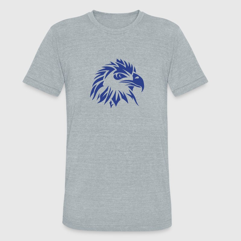 tribal eagle tattoo 1102 - Unisex Tri-Blend T-Shirt