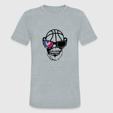 france cock basketball skull - Unisex Tri-Blend T-Shirt