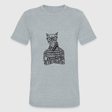 Hipster Cats Hipster Cat - Unisex Tri-Blend T-Shirt