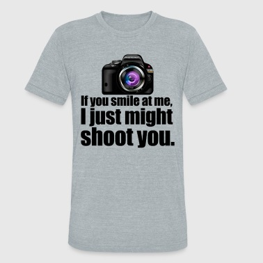 Funny Photography shooter - Unisex Tri-Blend T-Shirt