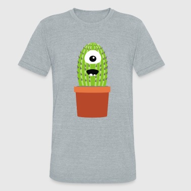 One eyed cactus - Unisex Tri-Blend T-Shirt
