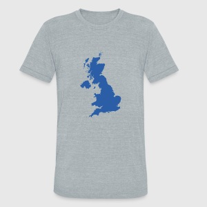 Uk map by alexwestshop spreadshirt unisex tri blend t shirt gumiabroncs Image collections